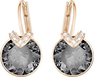 Swarovski Women's Gray Rose-gold tone plated Bella V Pierced Earrings 5299317