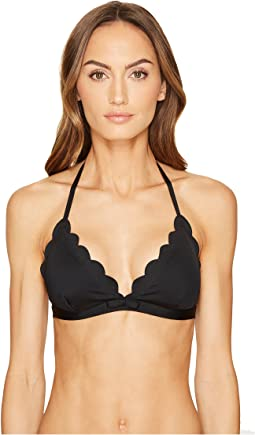 Kate Spade New York - Core Solids #79 Scalloped Triangle Bikini Top w/ Removable Soft Cups