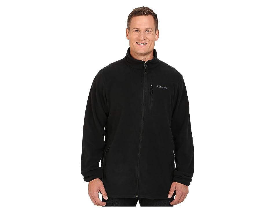 Columbia Big Tall Cascades Explorertm Full Zip Fleece (Black) Men