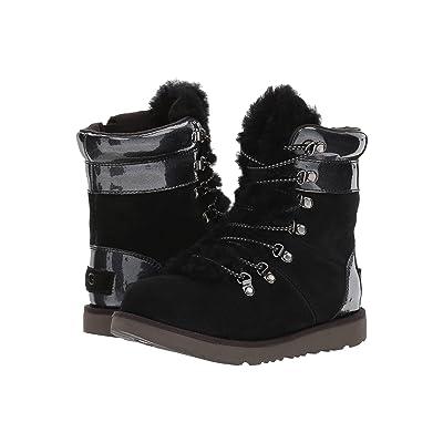 UGG Kids Viki Patent Waterproof (Little Kid/Big Kid) (Black) Girls Shoes