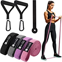 CORTNOE Pull Up Assistance Bands - Pull Up Bands Fabric Long Resistance Bands Set of 10 Long Workout Bands with Door Ancho...