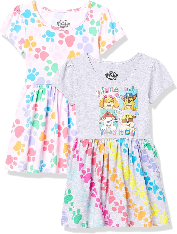 JoJo Siwa Toddler Girls 2 Pack Cotton Dress, Multipack