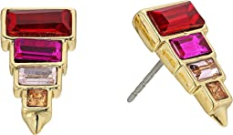 Rebecca Minkoff - Stacked Baguette Earrings
