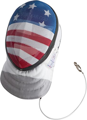 American Fencing Gear Fencing Foil Mask CE350N Certified National Grade Including Head Wire (Mask Cord)