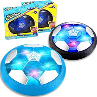TURNMEON Hover Soccer Ball - Set of 2- Rechargeable Soccer Ball Indoor Floating Soccer with LED Light & Foam Bumper - Perfect Holiday Birthday Christmas Toy Gifts for Boys Girls Kids Toddler