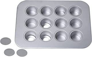 Chicago Metallic 77122 12-Cup Mini-Cheesecake Pan, 14-Inch-by-10.75-Inch silver