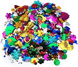 Jdesun 100 Gram Mixed Sequins and Spangles for DIY Crafts Supplies, Assorted Color and Shapes