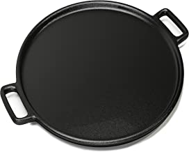 """Home-Complete Cast Iron Pizza Pan-14"""" Skillet for Cooking, Baking, Grilling-Durable, Long Lasting, Even-Heating and Versatile Kitchen Cookware"""