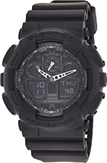 Casio Watch For Men G-SHOCK - The GA 100-1A1 Military Series in Black