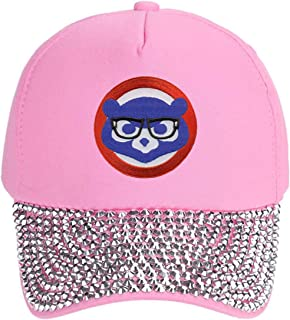 Chicago Cubs Womens Hat Chicago Cubbie with Joe Maddon Harry Caray Novelty Glasses (Pink Rhinestone)