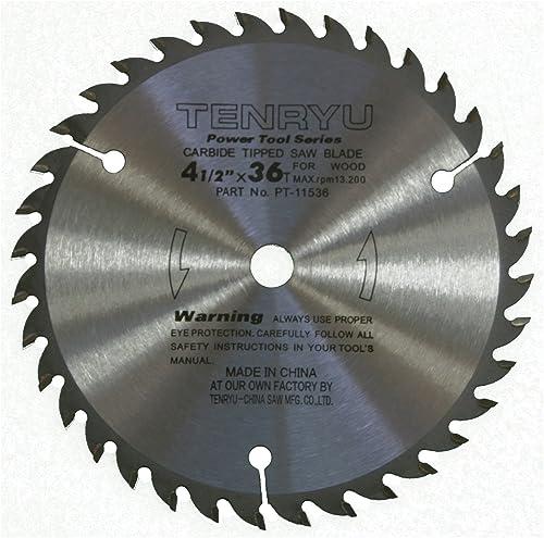 "discount Tenryu discount PT-11536 4-1/2"" Carbide Tipped Saw Blade ( 36 Tooth ATAF Grind - 3/8"" Arbor - online sale 0.063 Kerf) online"