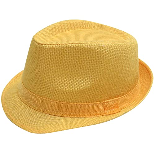 f1fed0ada7aca Simplicity Women Men Summer Gangster Trilby Straw Fedora Hat Cap W Brim