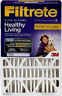 Filtrete 16x25x5, AC Furnace Air Filter, MPR 1550 DP, Healthy Living Ultra Allergen Deep Pleat, 1-Pack