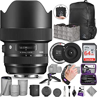 Sigma 14-24mm f/2.8 DG HSM Art Lens for Canon EF + Sigma USB Dock with Altura Photo Advanced Accessory and Travel Bundle