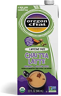 Oregon Chai Caffeine Free Chai Tea Latte Concentrate 32-Ounce Boxes (Pack of 6), Liquid Chai Tea Concentrate, Decaffeinate...