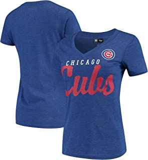 G-III 4her by Carl Banks Chicago Cubs Women's Game Day V-Neck T-Shirt - Royal