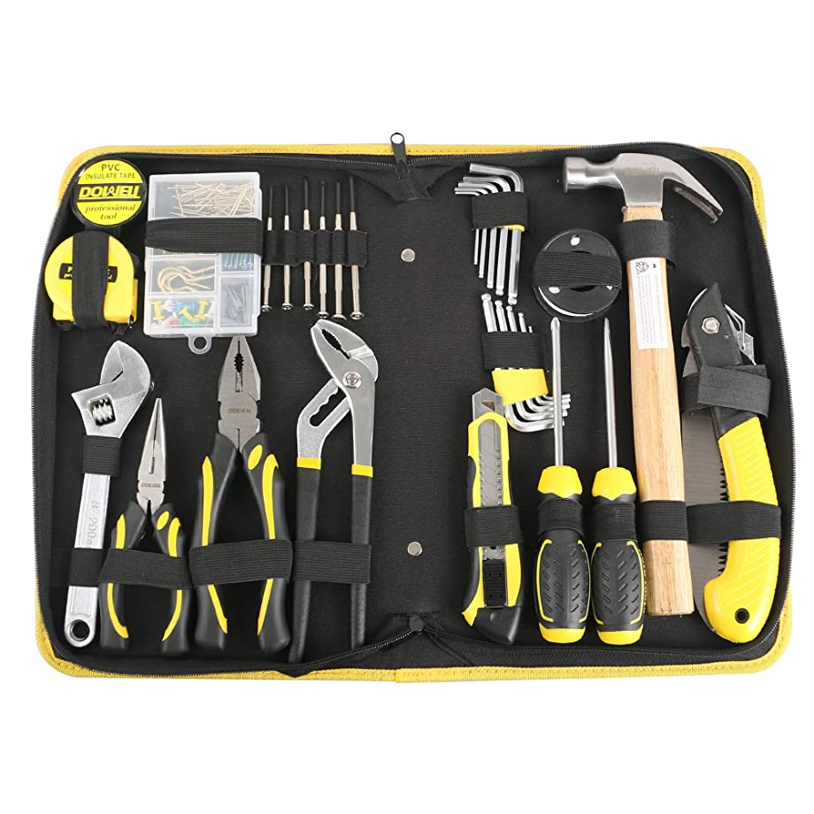 DOWELL Tool Set 126 PCS General Portable Household Hand Tools Set With Tool Bag Storage Case