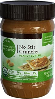 Simple Truth Organic No Stir Crunchy Peanut Butter (2 Pack)
