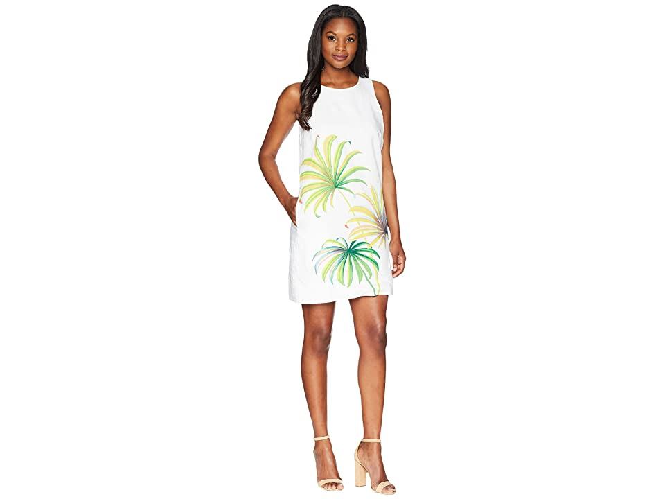 Tommy Bahama Cirque De Palm Shift Dress (White) Women