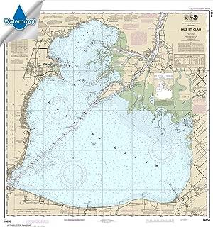 Paradise Cay Publications NOAA Chart 14850: Lake St. Clair 34.8 x 32.8 (WATERPROOF)