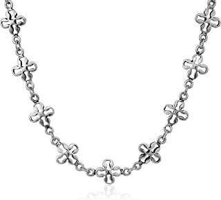 Mini Floral Chain 18 in. Magnetic Necklace, RS