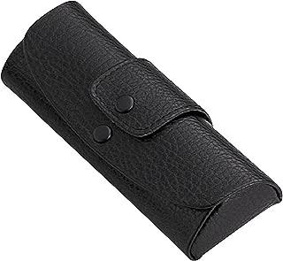 Leather-tone, Snap, Belt loop, soft-case, Eye Glasses Case (Black)