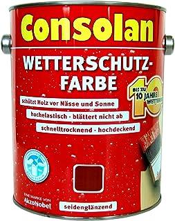 2,5 Liter Consolan Wetterschutzfarbe braun 208 bis 10 Jahre Langzeitschutz