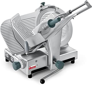 Sirman Palladio 330 EVO with Lift Lever, Commercial Heavy Duty Food Slicer,Silver