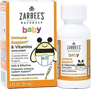 Zarbee's Naturals Baby Immune Support* & Vitamins, Natural Orange Flavor, 2 Ounce Bottle