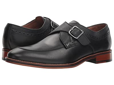 Johnston & Murphy Conard Monk Strap (Black Italian Calfskin) Men