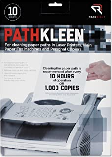 New-Read Right RR1237 - PathKleen Printer Roller Cleaner Sheets, 8 1/2 x 11, 10/Pack - REARR1237