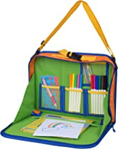 Kids Backseat Organizer Holds Crayons Markers an iPad Kindle or Other Tablet. Great for Road Trips and Travel used as a La...
