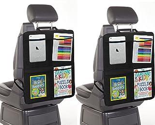 [2 حزمة Kickmats] مسند واقي المقعد الخلفي للسيارة | حامل إكسسوارات لمقعد السيارة لأجهزة iPad المحمولة | متعدد الجيوب 4 جيو...