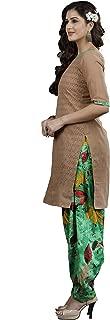 Minu salwar Cotton Printed Suit sets Brown(Lucknowipatyala_1008)