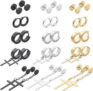 Best black cross hoop earrings Reviews