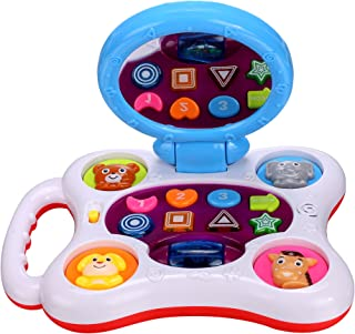 ANCHEEER Baby Magical Discovery Floor Mirror Toys Toddler Lighting Musical Educational Activity Center Toys