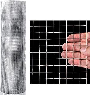 Goplus Hardware Cloth, 1/2 inch Welded Cage Wire Galvanized Hardware Cloth Metal Mesh Chicken Netting Rabbit Fence Wire Window (48'' x 50')