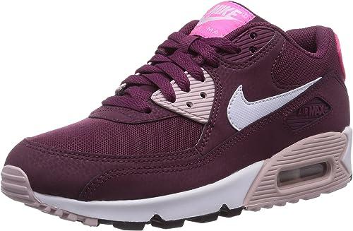 Nike Air Max 90 Essential, Baskets Basses Femme, Rouge (Villain ...