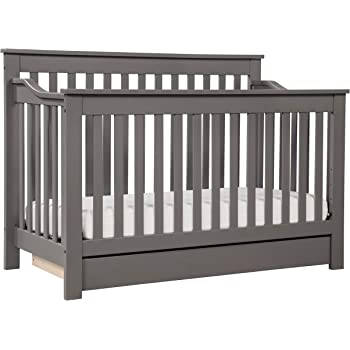 DaVinci Piedmont 4-in-1 Convertible Crib with Toddler Bed Conversion Kit in White Greenguard Gold Certified
