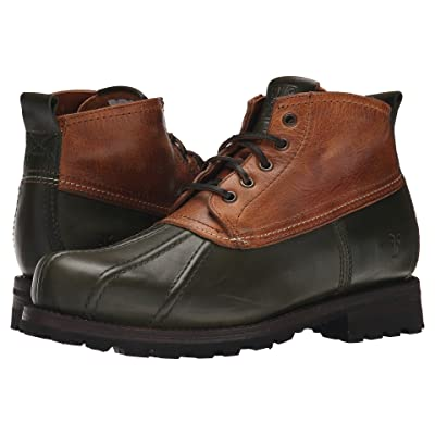 Frye Warren Duckboot (Forest Multi Smooth Full Grain/Washed Vintage Leather) Men