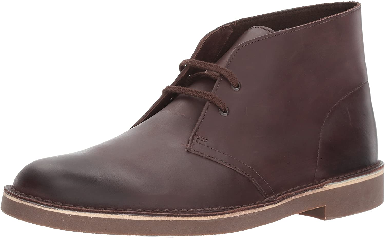 Clarks Men's Bushacre 2 Chukka Boots, Dark Brown Leather, 9 M US