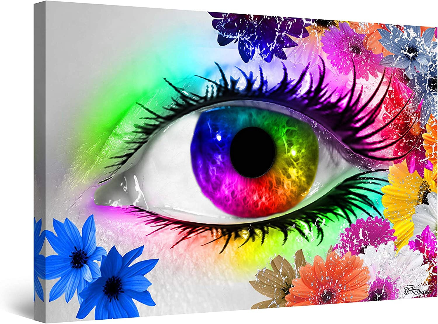 Startonight Wall Art Canvas High material The Colors Abst Diana by Dedication III Eye of