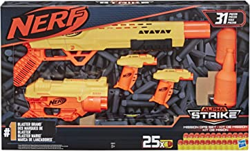 NERF 31-Piece Alpha Strike Mission Ops Set Includes 4 Blasters, 2 Half-Targets, and 25 Official Elite Darts -- for Kids, Teens, Adults
