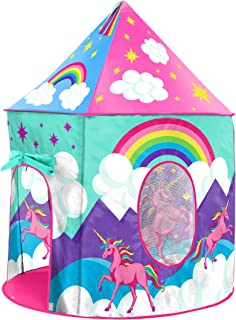 USA Toyz Unicorn Play Tent for Kids, Indoor Pop Up Playhouse Tent for Girls and Boys with..