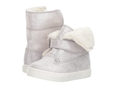 Polo Ralph Lauren Kids Siena Bootie (Toddler/Little Kid) (Silver Metallic Suede) Kid