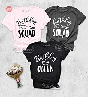Birthday Queen Shirt, Birthday Squad T-Shirts, Birthday Girls Matching Outfits, 30th Birthday Tanks