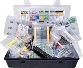Electronic Component Assortment, Resistors, Capacitors, Inductors, Diodes, Transistors, Potentiometer, IC, LED, PCB, 2000 pcs
