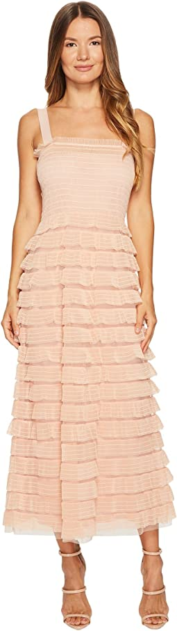 RED VALENTINO - Tulle & Barre Embroidery Dress