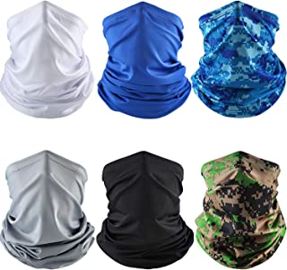 6 Pieces Summer UV Protection Face Cover Neck Gaiter Bandana Breathable Headwrap Cooling Face Cover for Camping Running Cy...