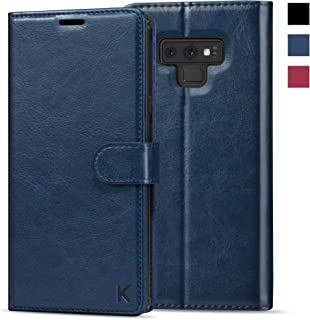 KILINO Galaxy Note 9 Wallet Case [S-Pen Fully Compatible] [Shock-Absorbent Bumper] [Card Slots] [RFID Blocking] [Kickstand] Leather Flip Case Compatible with Samsung Galaxy Note9 - Blue